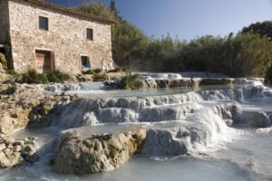 Saturnia hot spring
